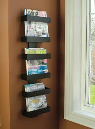 magazine rack office. Amazon Com Modern Magazine Rack Wall Mounted Racks Regarding Plan 8 Office O