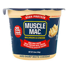 sharp white cheddar. muscle mac microwave \u0026 cheese aged sharp white cheddar cup r