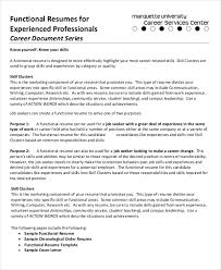 Functional Resume Sample Magnificent 28 Functional Resume Templates PDF DOC Free Premium Templates