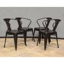 black metal dining chairs. AmeriHome Black Metal Dining Chair (Set Of 4) Chairs