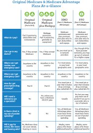 Medicare Advantage Comparison Chart 2019 Medicare Plan At A Glance Comparison My Medicare Matters