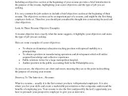 Majestic Looking Objective Section Of Resume 12 Objective Examples