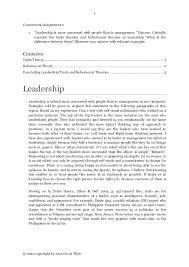 leadership traits and behavioural theories