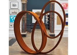 large art craft modern ribbon corten