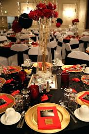 black and gold birthday table decorations red for party classy themed wedding t