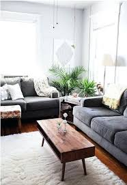 gray couch living room mid century modern coffee table living room decor dark grey couch living