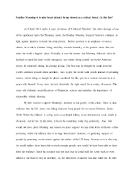 essay on bradley manning 2