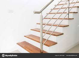 Interior Design Staircase Concrete Top Wooden Stainless Steel ...