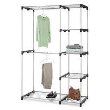 double closet rod organizer space saver hanger portable shelves free
