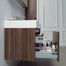 Resin Bathroom Accessories The Bagno Milano Stone Stone Resin Vanity Unit Walnut Finish