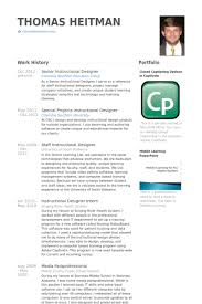 Instructional Designer Resume Best Senior Instructional Designer Resume Samples VisualCV Resume
