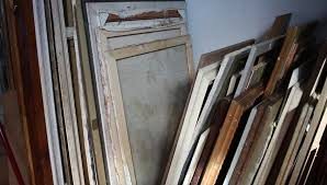 art storage shelves storing canvas frame papers and boards hd stock