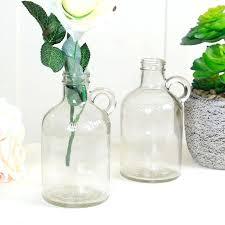 glass jug vase smoke glass jug vase