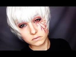 kaneki ken tokyo ghoul crossplay makeup tutorial