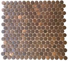 copper mosaic tile penny round antique copper mosaic tile