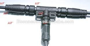 llt easy installable m12 series t connector outdoor lighting electrical tee connector