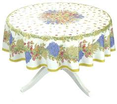 acrylic coated collection cotton tablecloth tablecloths round birds round white cotton tablecloth