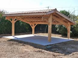 Construction D Un Carport Bois 2 Voitures Am Nagements