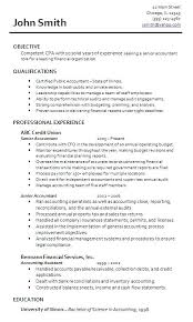 Sample Senior Accountant Resume Accountant Resume Samples Download