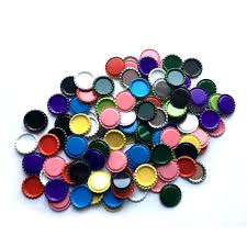 details about 100 colored flattened bottle caps hair bows diy pendants craft sbooking arts