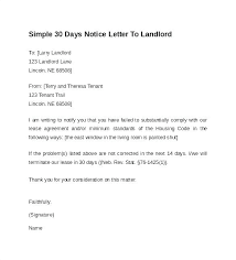 letter to vacate the premises sle day notice landlord intent tenant from by not template