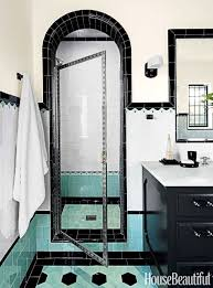 1930s Bathroom Bathroom With Colorful Tile 1930s Bathroom Design
