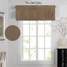 h versailtex blackout energy saving faux linen thick window valance rod pocket primitive curtain valances