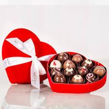 12 piece truffle heart box