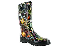 garden boots womens. Womens Western Chief Garden Play Rain Boot Black Floral In Boots