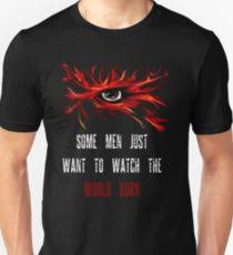 joker quote gifts merchandise redbubble some men just want to watch the world burn unisex t shirt