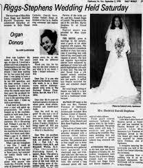 Wedding: Rita Faye Riggs & Shedrick Harold Stephens - Newspapers.com