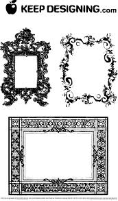 Free Fancy Frames Ornate Borders PSD files vectors graphics