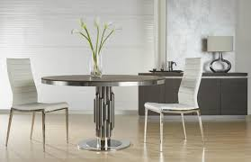 industrial dining table furniture. dining tables - star international furniture aria round modern industrial table matte light grey 54