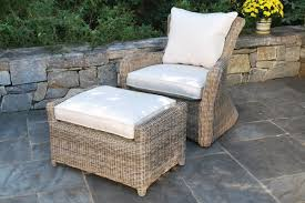 the deep seating lounge chair is a beautiful addition to any natural setting also includes a generous ottoman hand woven using extra large wicker fiber