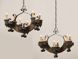 cast iron lighting furniture antique and vintage pair old wood chandeliers with black chandle holder hanging