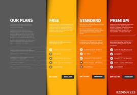 Pricing Template For Services Product Service Plan Price Comparison Layout Buy This Stock