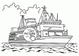 Real Cruise Ship Coloring Page For