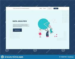 Vector Data Analysis People Man Woman Scientists Stock