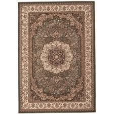 empire medallion turkish made oriental rug 230x160cm green