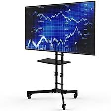 Commercial Tv Display Stands Fascinating Adjustable Height Mobile TV Cart TV Stand For Up To 32inch TV