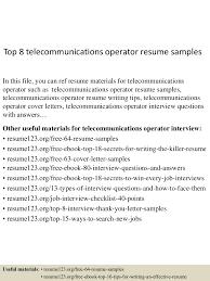 toptelecommunicationsoperatorresumesamples lva app thumbnail jpg cb