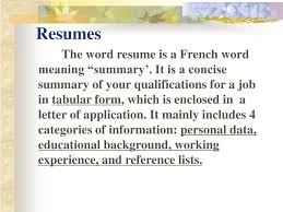 Ppt Resume Writing Powerpoint Presentation Id5919003