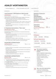 Sample Resume Admin 6 Salesforce Admin Resume Examples Salesforce