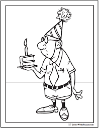 Birthday cards kids can color are a creative and customized way to include your child in birthday festivities. 55 Birthday Coloring Pages Printable And Customizable