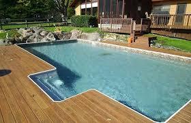 semi inground pool ideas. Semi In Ground Pool Jewel Inground Pools With A Deep End . Deck Ideas