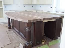 black walnut butcher block countertop with island plan 43