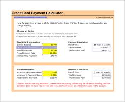 Credit Payoff Calculator Sample Credit Card Payoff Calculator 9 Documents In Pdf