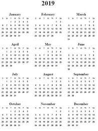 Calendar Year 2019 Printable Printable 2019 Calendar Monthly Calendar Templates Calendar