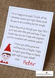 Elf on the shelf Arrival Letter Printable Living Locurto