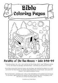 Small Picture Printable Coloring sheet for Matthew 724 House Upon Rock